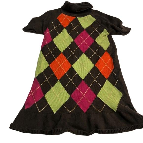 Gymboree Argyle Sweater Dress girls size 8